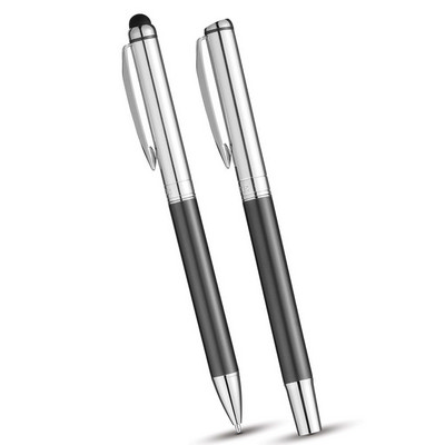 Luxe Vincenzo Stylus Ballpoint Pen Set (LUX1003GY_RNG_DEC)