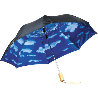 46 Blue Skies Auto Open Folding Umbrella (SB1004BK_RG_DEC)