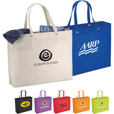 Oak Non-Woven Shopper Tote (SM-7455_RNG_DEC)