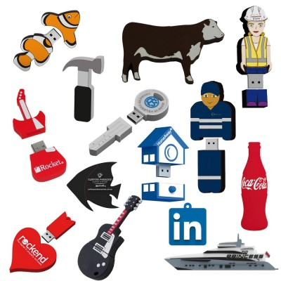 2D Custom Shape USB Flash Drive (25 Day) 16Gb (USB2DPVC_16G-25Day)
