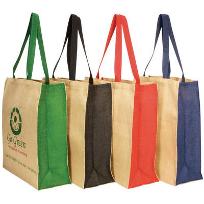 Jute panelled carry-all  (G1035_ORSO_DEC)