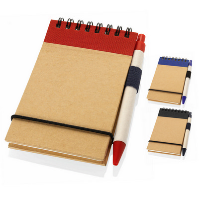 A6 Recycled jotter  (G1436_ORSO_DEC)