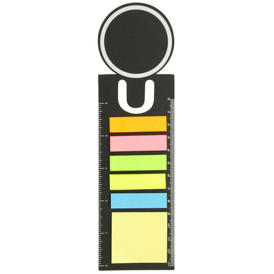 Bookmark ruler with sticky notes   (G1612_ORSO_DEC)