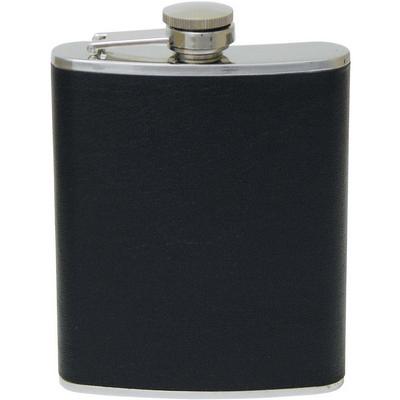 Leather hip flask  (G552_ORSO_DEC)