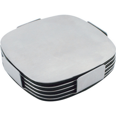 Executive stainless steel coaster set  (G724_ORSO_DEC)