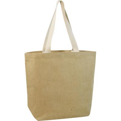 Jute shopper bag  (G833_ORSO_DEC)