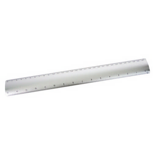 Aluminium flat scale ruler (G1116_ORSO_DEC)