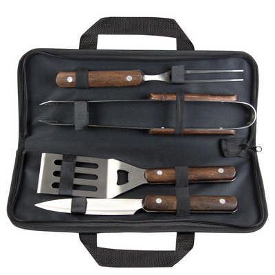 Wooden BBQ tool set (G1213_ORSO_DEC)