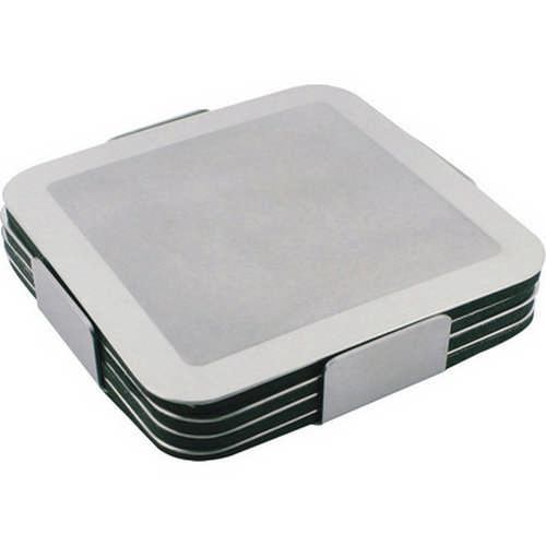 Prestige stainless steel coaster set (G725_ORSO_DEC)