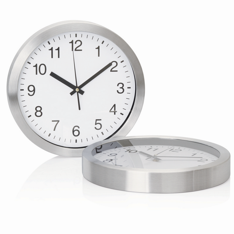 30cm Aluminium Wall Clock (C308_GL_DEC)