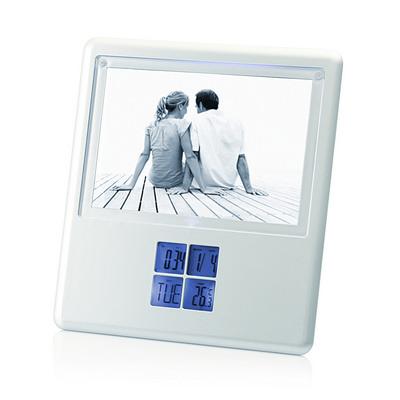 Multifunction LCD Alarm Clock w/Photo Frame  (C425_GL_DEC)
