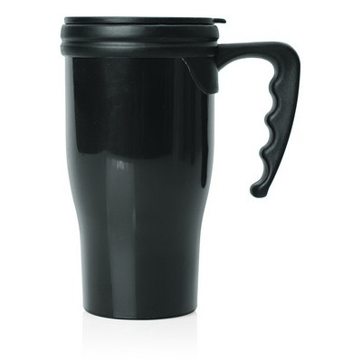 Double Wall Plastic Thermo Travel Mug (M229A_GL_DEC)