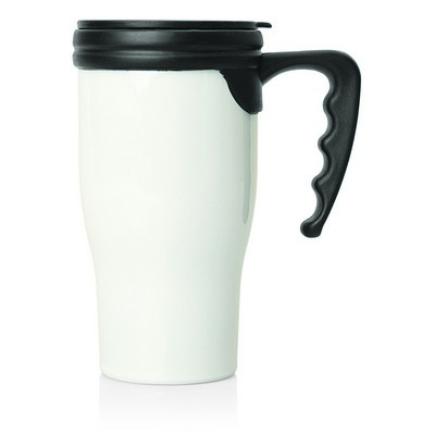 Double Wall Plastic Thermo Travel Mug (M229B_GL_DEC)
