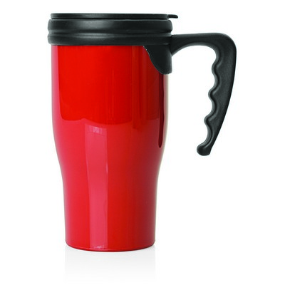 Double Wall Plastic Thermo Travel Mug (M229C_GL_DEC)