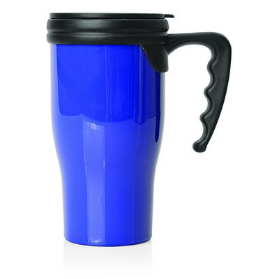 Double Wall Plastic Thermo Travel Mug (M229D_GL_DEC)