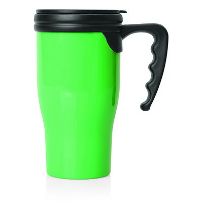 Double Wall Plastic Thermo Travel Mug (M229F_GL_DEC)