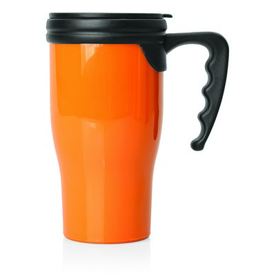 Double Wall Plastic Thermo Travel Mug (M229G_GL_DEC)