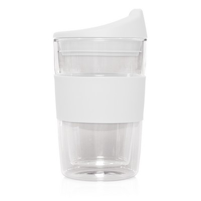 Double-walled Glass Cup 2 Go - 300mL (M266G_GL_DEC)