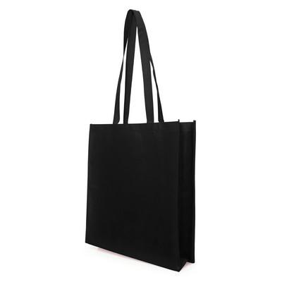 Non Woven Bag - w/gusset (NWB05-BK_GL_DEC)