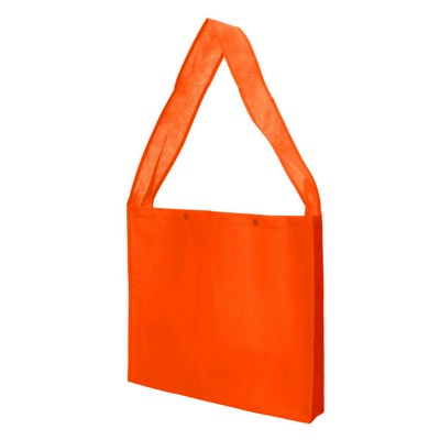 Non Woven Sling Bag - w/press studs and gusset (NWB20-OR_GL_DEC)