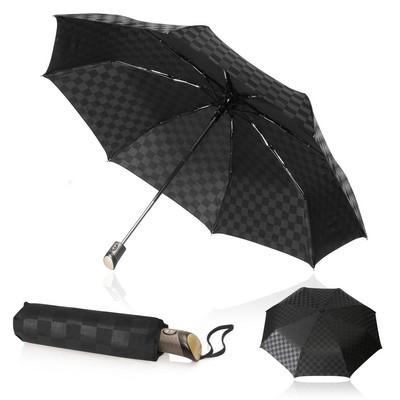 Shelta Folding/Compact 58cm Checkerboard Umbrella (U-3445_GL_DEC)