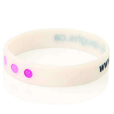 Debossed Colour Filled Silicone Wristband (WB04_GL_DEC)