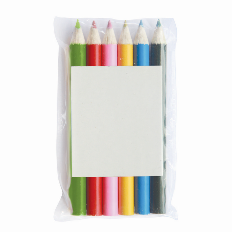 6 Coloured Pencils in Pouch (Z603-6_GL_DEC)