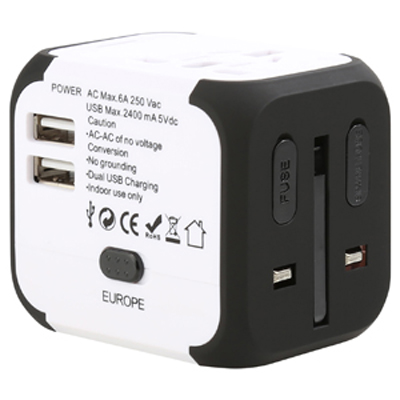 Mondo USB Travel Adaptor (Stock) (AR892s_PROMOITS)