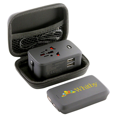 Lazio Travel Adaptor & Power Bank - 4000 mAh (AR894_PROMOITS)