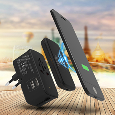 Portici Travel Adaptor with Fast Wireless Charger (AR895_PROMOITS)