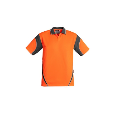 Mens Hi Vis Aztec Polo - Short Sleeve (ZH248_SYZM)