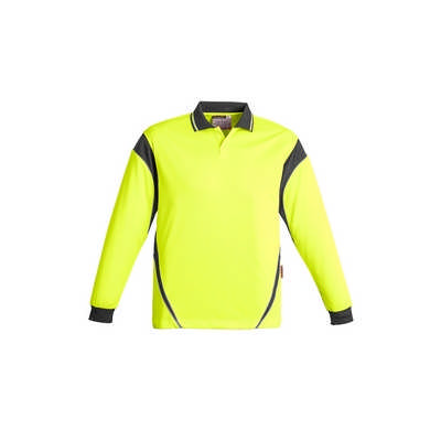Mens Hi Vis Aztec Polo - Long Sleeve (ZH249_SYZM)