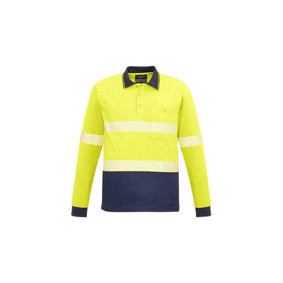 Unisex Hi Vis Segmented L/S Polo - Hoop Taped (ZH530_SYZM)