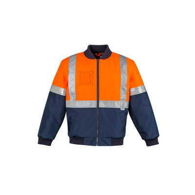 Mens HI Vis Quilted Flying Jacket (ZJ351_SYZM)