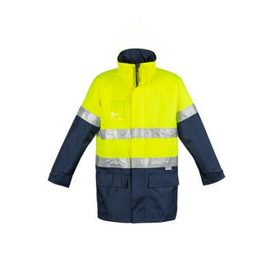 Mens Hi Vis Waterproof Lightweight Jacket (ZJ355_SYZM)