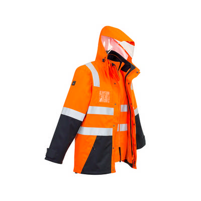 Mens Hi Vis 4 in 1 Waterproof Jacket (ZJ532_SYZM)