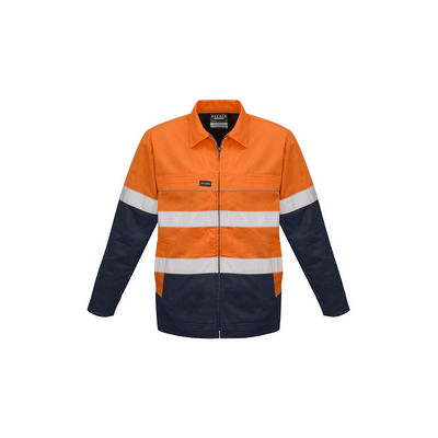 Mens Hi Vis Cotton Drill Jacket (ZJ590_SYZM)