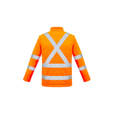 Unisex Hi Vis 2 in 1 X Back Soft Shell Jacket (ZJ680_SYZM)