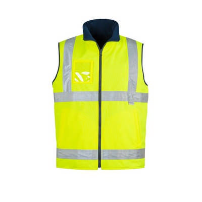 Mens Hi Vis Lightweight Fleece Lined Vest (ZV358_SYZM)