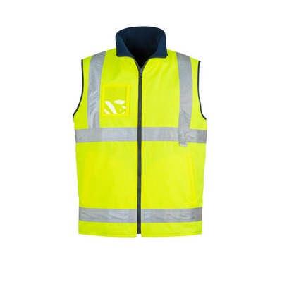 Mens Hi Vis Lightweight Fleece Lined Vest - (ZV358_SYZM)