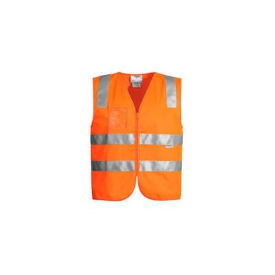 Unisex Hi Vis Full Zip Vest  (ZV998_SYZM)