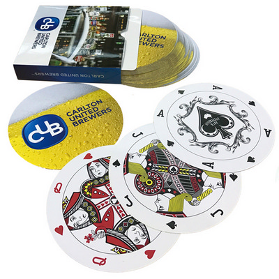 Playing cards digital 95mm diameter - (printed with 4 colour(s)) PLAYINGCARDSD_OXY