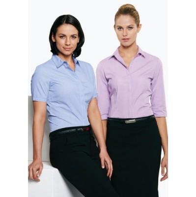 Ladies Grange MiTong Check 3/4 Sleeve Shirt