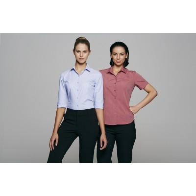 Ladies Belair MiTong Stripe Short Sleeve Shirt