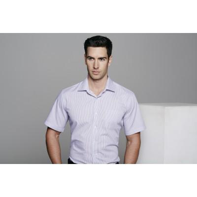Men`s Henley Striped Short Sleeve Shirt