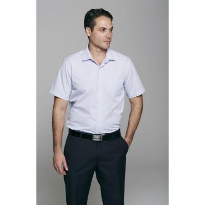 Men`s Bayview Wide Stripe Short Sleeve Shirt