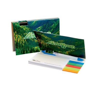MEDIUM BOOKET WITH ADHESIVE PAD, MYLAR FLAGS AND PEN