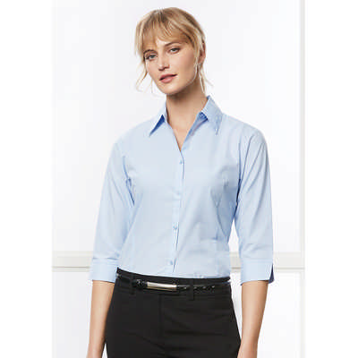 Micro Check Ladies S Shirt (LB8200_BIZ)