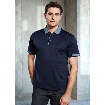 Mens Noosa Self Check Polo Shirt (P9100_BIZ)