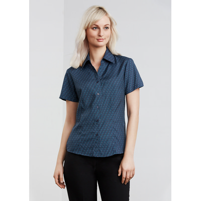 Oasis Ladies Printed SS Shirt (S29422_BIZ)